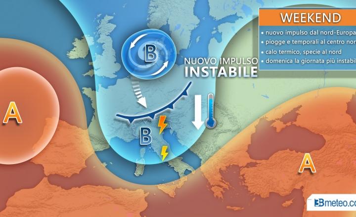 Meteo, le previsioni per il fine settimana: temporali e possibili grandinate