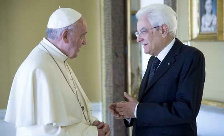 Quirinale, Mattarella riceve Papa Francesco
