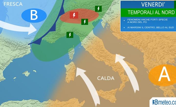 METEO ITALIA, rovesci e acquazzoni oggi 14 maggio 2017 al Nord, domani ulteriore peggioramento